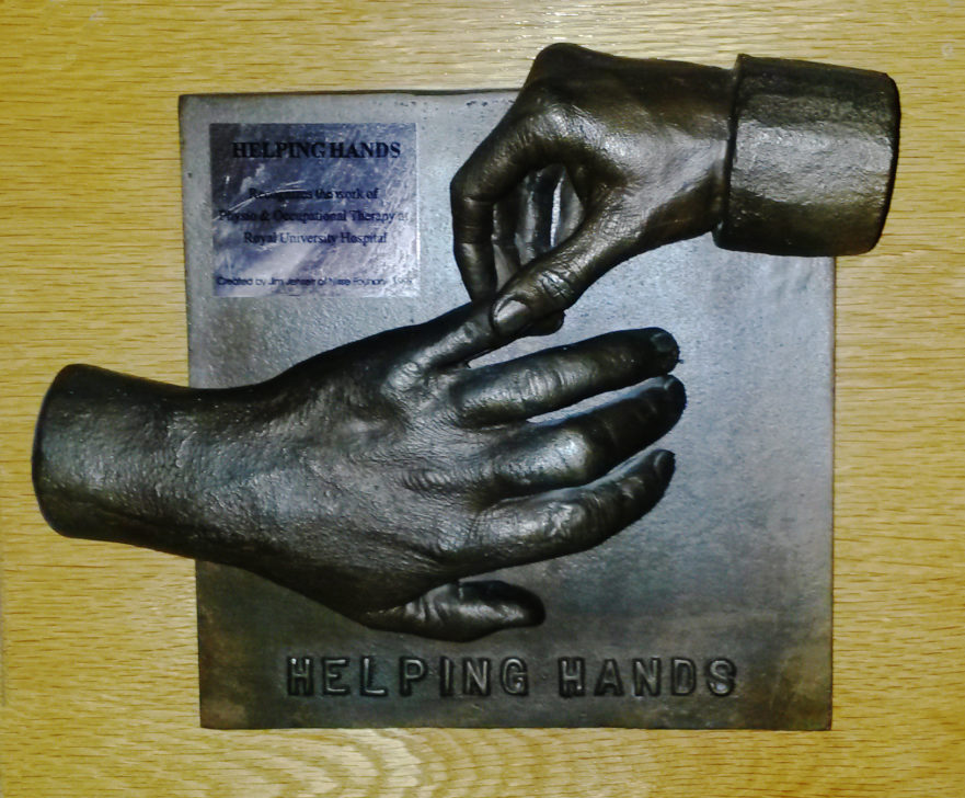 Hands sculpture